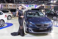 Peugeot-auto bij de Internationale Motor Expo 2016 van Thailand Stock Foto's