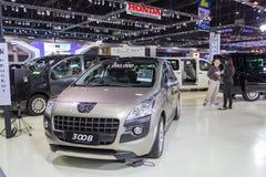 Peugeot-auto bij de Internationale Motor Expo 2016 van Thailand Stock Foto