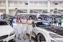 Peugeot-auto bij de Internationale Motor Expo 2016 van Thailand Stock Afbeelding