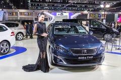 Peugeot-auto bij de Internationale Motor Expo 2016 van Thailand Royalty-vrije Stock Afbeelding