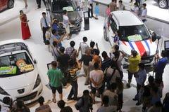 Peugeot-Autostand Lizenzfreie Stockfotografie