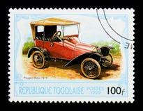 Peugeot 1913 Bebe, serie d'automobiles d'antiquités, vers 1999 Photographie stock libre de droits