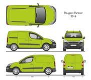 Peugeot-Bestelwagen van de partner 2016 de Professionele Lading Stock Fotografie
