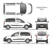 Peugeot-Bestelwagen van partner 2016 de Professionele Combi Stock Afbeelding