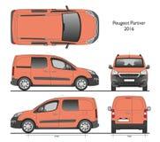 Peugeot-Bestelwagen van partner 2016 de Professionele Combi Royalty-vrije Stock Foto