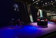 Peugeot 308 bij de IAA-Auto's stock fotografie