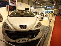 Peugeot blanca 308CC Fotografía de archivo libre de regalías
