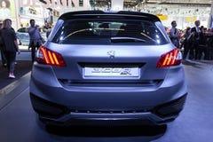 Peugeot bland för 308 R på IAAEN 2015 Arkivbilder