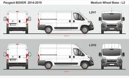 Peugeot Boxer Cargo Delivery Van L2 2014-2019 stock illustration