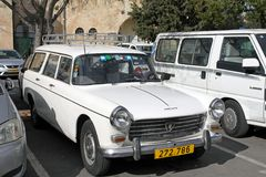 Peugeot 404 car at the city parking Royalty Free Stock Photography