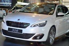 Peugeot 308. In car showroom in Paris Royalty Free Stock Photo