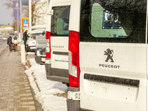 Peugeot cars Royalty Free Stock Photo