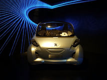 Peugeot concept car. Peugeot is a major French car brand, part of PSA Peugeot Citroën, the second largest carmaker based in Europe Royalty Free Stock Photos