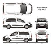 Peugeot-de partner snakt de Professionele Bestelwagen van 2016 Royalty-vrije Stock Foto's