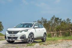 Peugeot 3008 dia da movimentação de 2018 testes fotos de stock royalty free