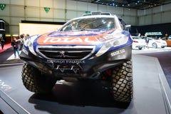 Peugeot 2008 DKR, motorisk show Geneve 2015 Fotografering för Bildbyråer