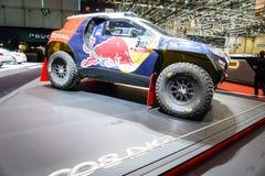 Peugeot 2008 DKR, motorisk show Geneve 2015 Royaltyfria Foton