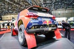 Peugeot 2008 DKR, motorisk show Geneve 2015 Arkivfoton
