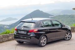 Peugeot 308 drevdag för 2016 prov Fotografering för Bildbyråer
