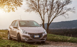 Peugeot 208 E-hdi Stockfotos