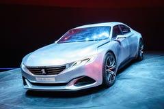 Peugeot Egzaltuje, Motorowy przedstawienie Geneve 2015 zdjęcie stock