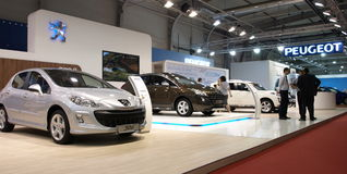 The Peugeot exhibition coner Royalty Free Stock Images