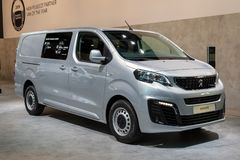 Peugeot Expert commercial vehicle. BRUSSELS - JAN 18, 2019: Peugeot Expert commercial vehicle showcased at the 97th Brussels Motor Show 2019 Autosalon stock photos