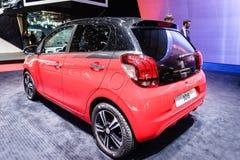 Peugeot 108, exposição automóvel Genebra 2015 foto de stock
