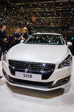 Peugeot 508, exposição automóvel Genebra 2015 foto de stock royalty free