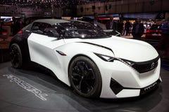 Peugeot Fractal pojęcia elektryczny samochód obrazy stock