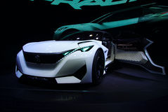 Peugeot Fractalbegrepp på IAA-bilarna Royaltyfri Bild