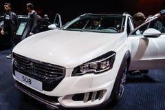 Peugeot 508, Genève 2015 för motorisk show Fotografering för Bildbyråer