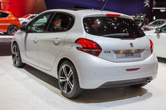 2015 Peugeot 208. Geneva, Switzerland - March 4, 2015: 2015 Peugeot 208 presented on the 85th International Geneva Motor Show Royalty Free Stock Images