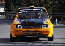 Peugeot 205 Gti bieżny samochód obrazy royalty free