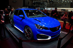 Peugeot 308 GTi at Geneva 2016 Royalty Free Stock Photography