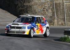 Peugeot 205 GTI samochód wyścigowy podczas rasy obraz royalty free