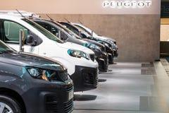 Peugeot handlowi pojazdy obrazy stock