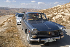Peugeot 404, Herodium, Palestine Royalty Free Stock Photo