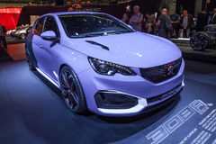 Peugeot 308 Hybrid R at the IAA 2015 Royalty Free Stock Images