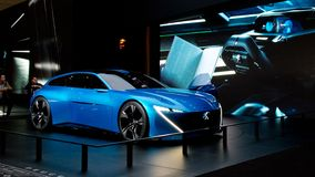 Peugeot instinkt i Genève 2017 Arkivbild