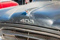 Peugeot 403 inzameling royalty-vrije stock foto