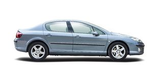 Peugeot 407 isolated on white Royalty Free Stock Photography