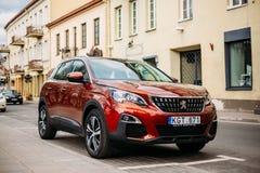 Peugeot 3008 Jest Ścisłym skrzyżowaniem Suv Fabrykujący francuzem A zdjęcia royalty free