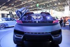 Peugeot KVARTSbegrepp på IAAEN 2015 Arkivfoton