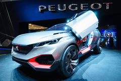 Peugeot Kwarcowy pojęcie, Motorowy przedstawienie Geneve 2015 Obrazy Royalty Free