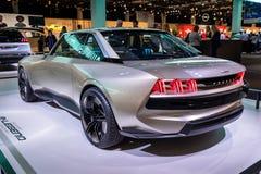 Peugeot legendy pojęcia retro autonomiczny samochód zdjęcie royalty free