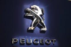Peugeot Lion Company Logo imagens de stock