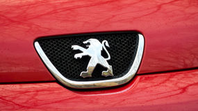 Peugeot logo fotografia royalty free