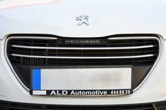 Peugeot metalu symbol obraz royalty free