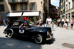 Peugeot 203 at Mille Miglia 2016 Royalty Free Stock Photos